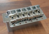 -GD- Strat tremolo 10.5 spacing Solid Steel block Chrome