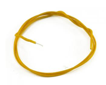 Vintage cloth wire yellow 1m