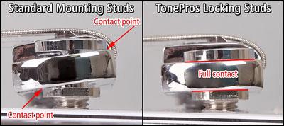 Tailpiece Tonepros chrome metric - Tonepros - gitarrdelar se