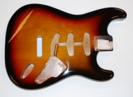 Hosco Strat Body Alder 3T Sunburst