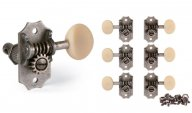 Golden Age Restoration Guitar Tuners 3+3 Relic