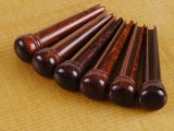 Waverly Snakewood Bridge Pins, Slotted with no dot, set of 6